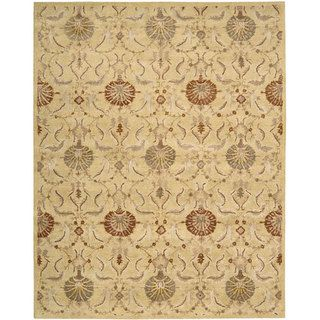 Hand tufted Beaufort Gold Wool Rug (8 x 11)