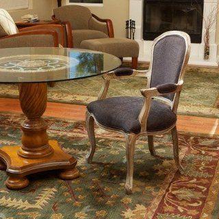 BEST Portland Weathered Oak Wood Chair, Dark Grey Home