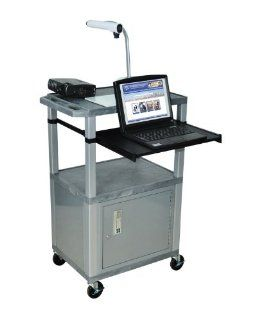 H.Wilson Portable AV Presentation Cart With Locking
