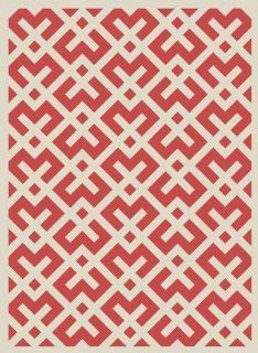 Safavieh CY6915 238 9 Courtyard Collection Red and Ivory