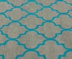 Handmade Luna Moroccan Trellis Grey Wool Rug (5 x 8)