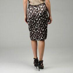 Lafayette 148 Womens Cubist Print Emma Skirt
