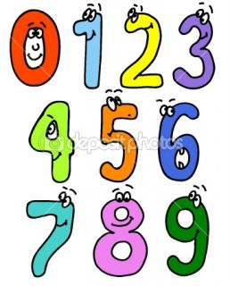 Cartoon numbers  Stock Vector © Ghenadie Pascari #1292575