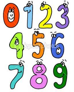 Cartoon numbers  Stock Vector © Ghenadie Pascari #1292575