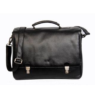 Kozmic Black Pebble Grain Leather Messenger Bag Today $116.99