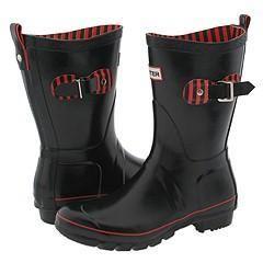 Hunter Festival Short Black Boots