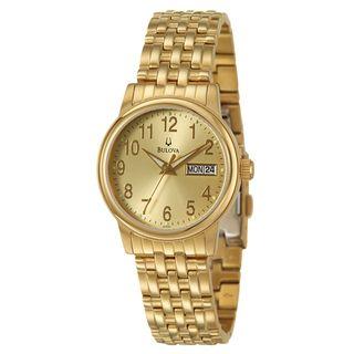 Bulova Mens Yellow Gold plated Steel Emeritus Watch