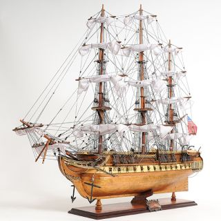 Old Modern Handicrafts USS Constitution Copper Bottom Model