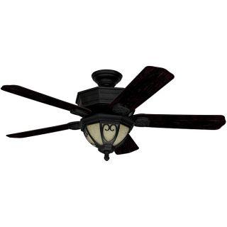 Stonehaven 52 inch Textured Black Hunter Fan