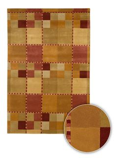 Contemporary Hand knotted Aura Wool Rug (8 Round)