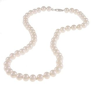 Miadora White 6.5 7mm Freshwater Pearl Necklace (16 18 inch