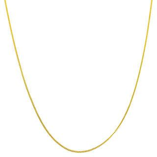 14k Yellow Gold Baby Curb Link Chain (16 20 inches)