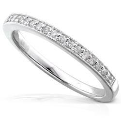 14k White Gold 1/10ct TDW Diamond Wedding Band