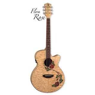 Luna Fauna Rose A/E Folk Guitar