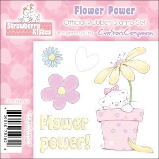 Crafters Companion Strawberry Kisses Flower Power EZMount Cling