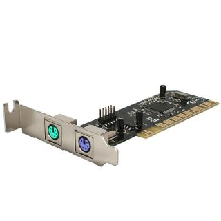 SYBA SD LP UPS2 Low profile PCI to USB 2.0 Header and Dual PS2 Card