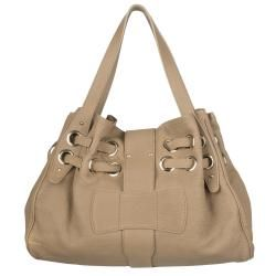 Jimmy Choo Ramona Large Beige Leather Shopper Bag