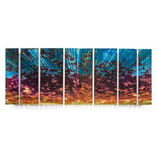 Ash Carl Cloudy Sunset 7 piece Metal Wall Art Set