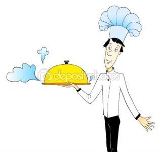 Cartoon chef  Stock Vector © Valentina Rusinova #1326564