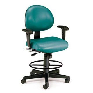 Teal 24 Hour Drafting Chair with arms 241 AA DK 602