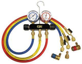 CPS Producs MB234 Black Max Dual Brass AC Manifold for R 12 & R 134A