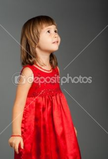 Cute little girl ing up  Stock Photo © Viktoria Savostianova