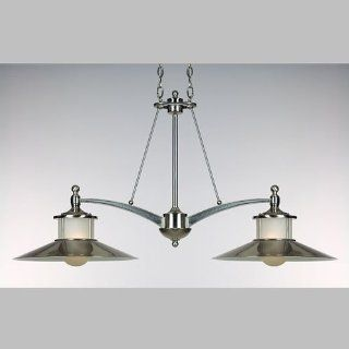 Quoizel NA241BN New England 2 Light Island Light in Brushed Nickel