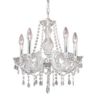 Laura Ashley MXX717 Mabel 5 Light Chandelier, Chrome