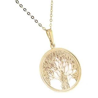 Jewelry For Trees 14KT Yellow Gold Tree of Life Pendant W