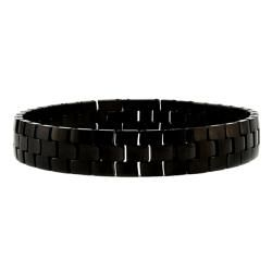 Mens Tungsten Carbide Black plated Snake link Bracelet (11 mm