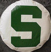 Michigan State University Tire Cover State Design   White