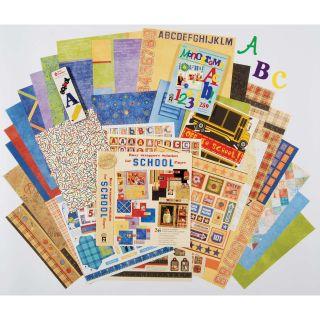 Hot off the Press Paper/Metal embellishments School Scrapbooking Set