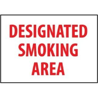 Designated Smoking Area 10h x 14w (rigid plastic):
