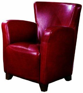Coaster Accent Chair, Red/Burgundy Polyurethane Home