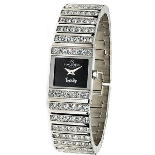 Haurex Italy Trendy Womens Stainless Steel Crystal Watch