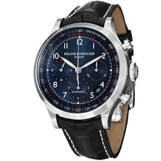 Baume & Mercier Mens Capeland Blue Dial Chronograph Strap Watch