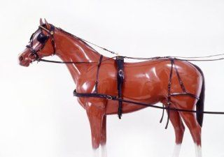 Tough 1 Leather Horse Harness   Black   Small Horse