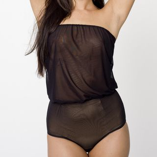 American Apparel Womens Micro Mesh High Waist Brief Romper