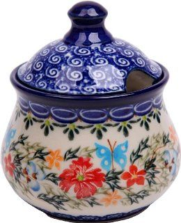Polish Pottery Ceramika Boleslawiec, 0051/238, Sugar Bowl