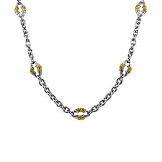 Scott Kay Sterling Silver and 18k Gold Necklace