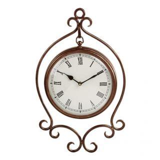 Sadek Bronze Hanging Wall Clock