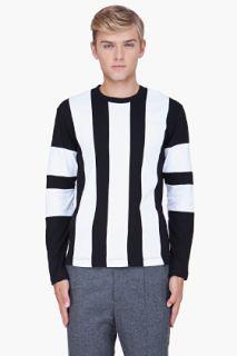 Comme Des Garçons Shirt White Color Block Jersey T shirt for men