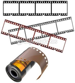 Negative frames and film canister  Stock Vector © Paul Malyugin