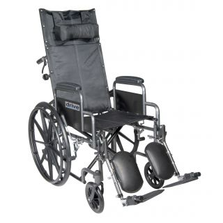 Drive Medical Silver Sport 18 inch Reclining Wheelchair Today $326.99