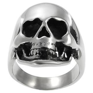 Daxx Stainless Steel Mens Large Skull Ring
