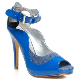 Michael Antonio BEYONCE Womens Dress Heels BLUE (7, Blue): Shoes