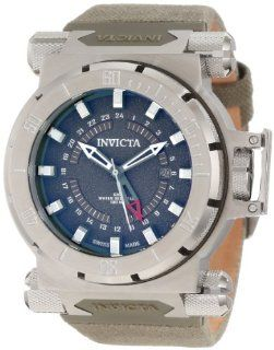 Invicta Mens 10031 Coalition Forces GMT Green Dial Green Fabric Watch