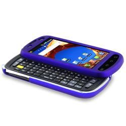 Blue Rubber coated Case for Samsung Epic 4G D700