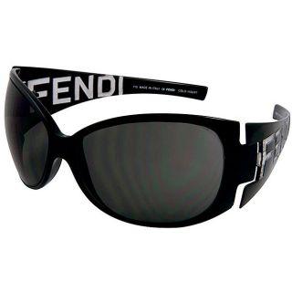 Fendi 388 Black Wraparound Sunglasses
