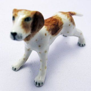 Dollhouse Miniature Lovely Standing Dog Ceramic Figurine